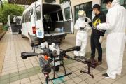 Dezynfekcja powierzchni dronem - usługa dezynfekcji za pomocą drona DJI Agras