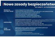Nowe zasady bezpieczeństwa od soboty 24 października 2020